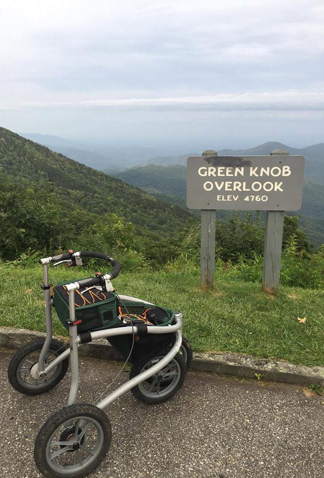 Green Knob Overlook 에서의 Veloped, 해발높이. 4760